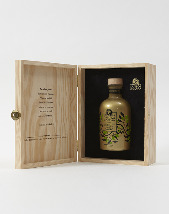Caja De Regalo AOVE Cosecha Temprana Variedad Hojiblanca (500ml)